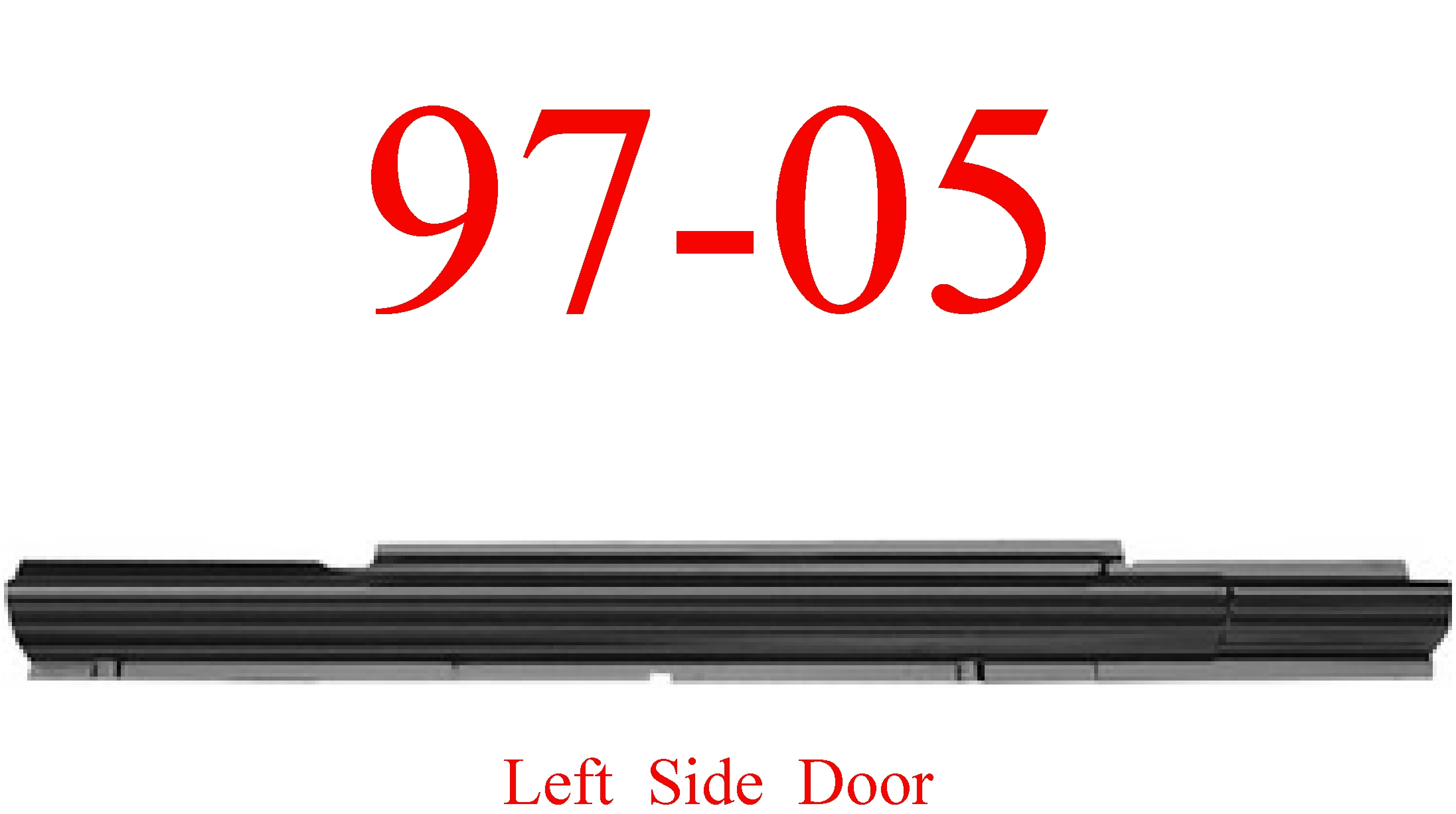 97-05 Chevy Venture Left Sliding Door Rocker Panel